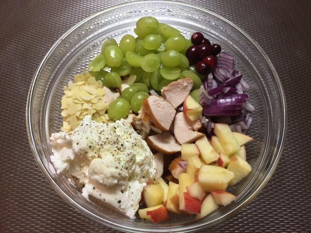 Chicken salad with greek yogurt step 1