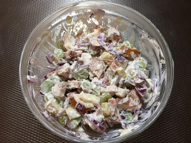 Chicken salad with greek yogurt step 2